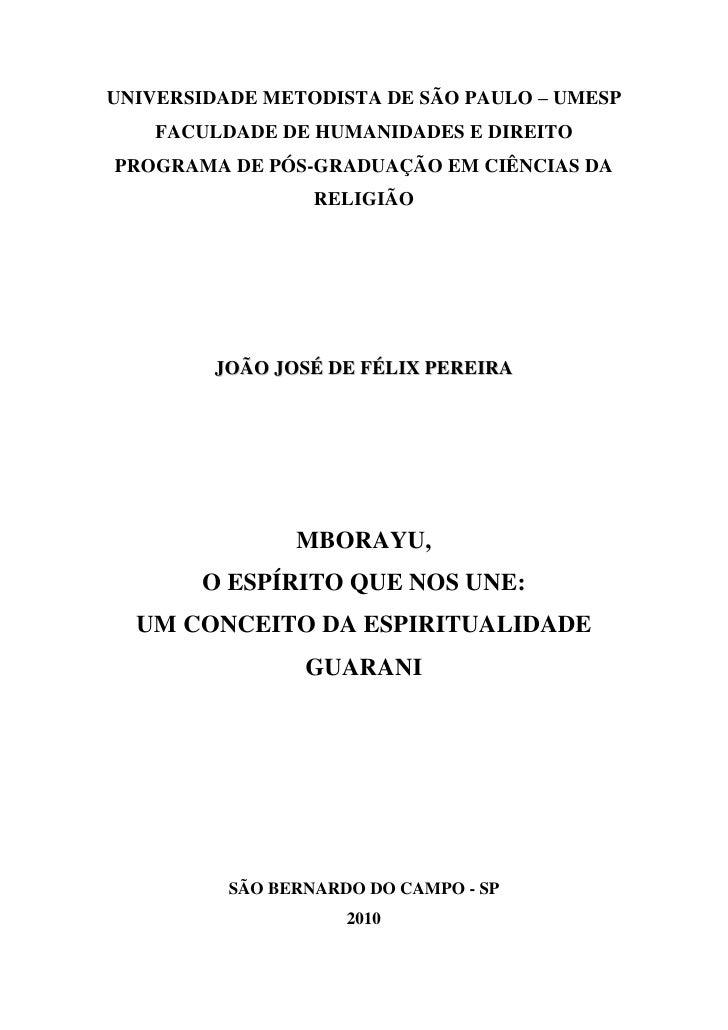 UNIVERSIDADE METODISTA DE SÃO PAULO – UMESP     FACULDADE DE HUMANIDADES E DIREITO PROGRAMA DE PÓS-GRADUAÇÃO EM CIÊNCIAS D...