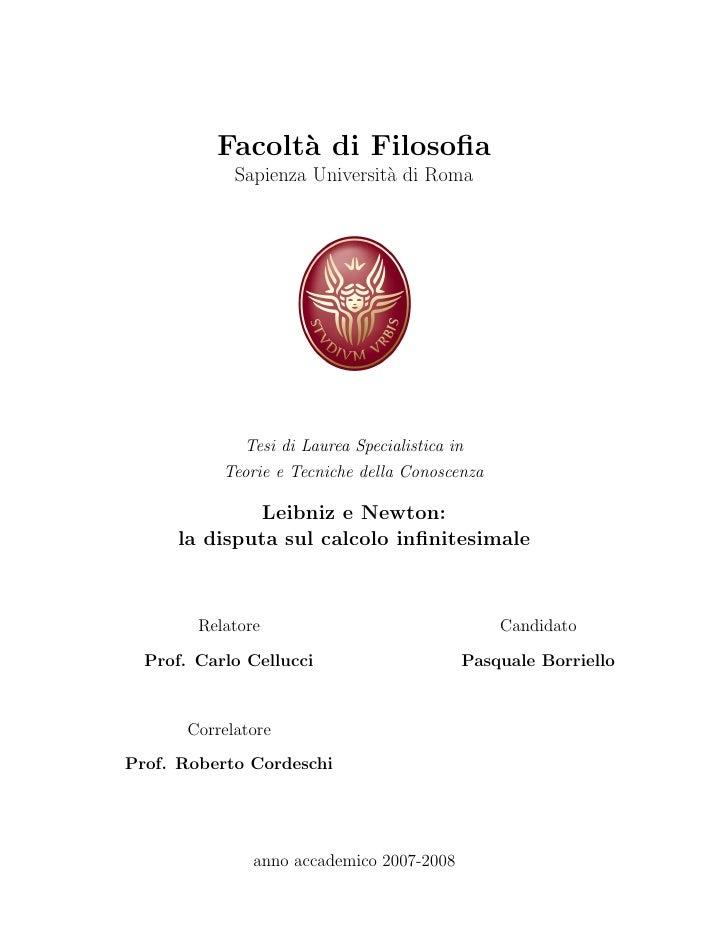 Facolt` di Filosofia                 a              Sapienza Universit` di Roma                                a           ...