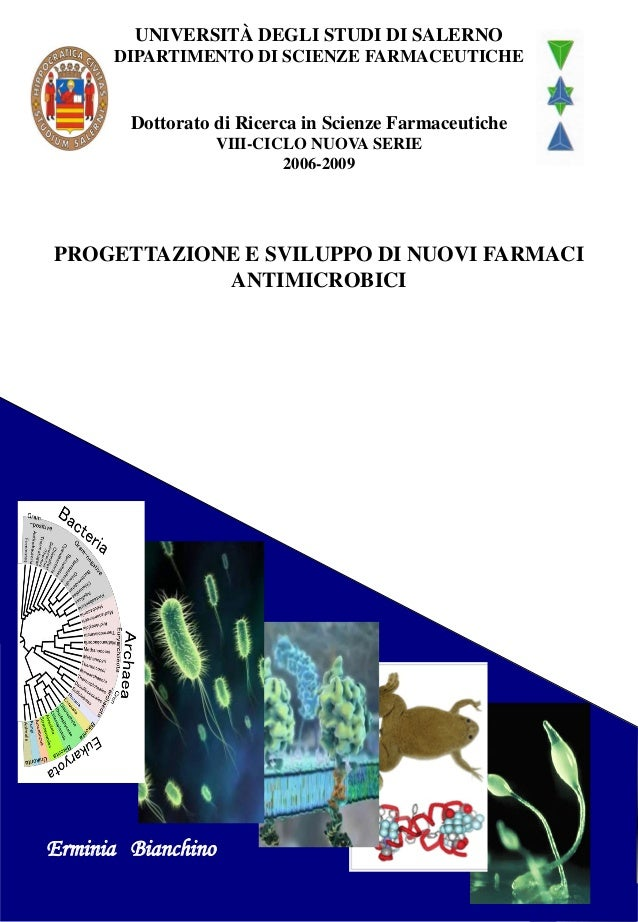 UNIVERSITÀ DEGLI STUDI DI SALERNO DIPARTIMENTO DI SCIENZE FARMACEUTICHE Dottorato di Ricerca in Scienze Farmaceutiche VIII...