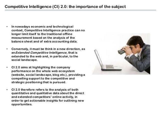 Analysis of Competitive intelligence
