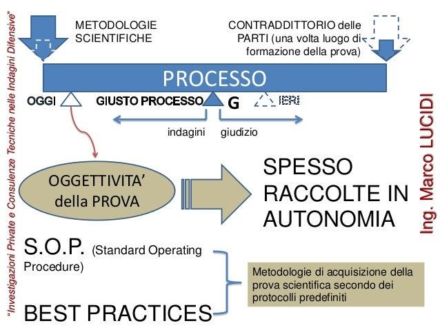 PROCESSO G indagini giudizio METODOLOGIE SCIENTIFICHE CONTRADDITTORIO delle PARTI (una volta luogo di formazione della pro...