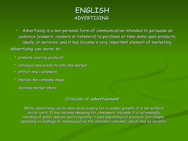 advertising is a form of communication intended to persuade an audience What are the major differences between informative & persuasive advertising by george boykin most informative advertising is intended to persuade these advertising techniques work best when integrated into all of your communication vehicles.