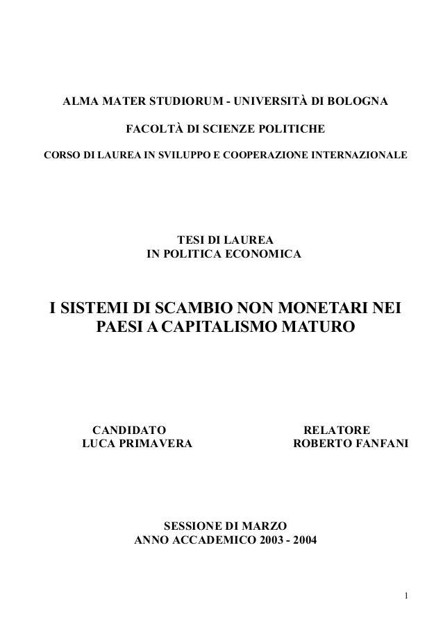ALMA MATER STUDIORUM - UNIVERSITÀ DI BOLOGNAFACOLTÀ DI SCIENZE  POLITICHECORSO DI LAUREA IN SVILUPPO E COOPERAZIONE La ... 7b346f507fa