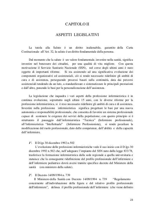 23  CAPITOLO II  ASPETTI LEGISLATIVI  La tutela alla Salute è un diritto inalienabile, garantito della Carta Costituzional...