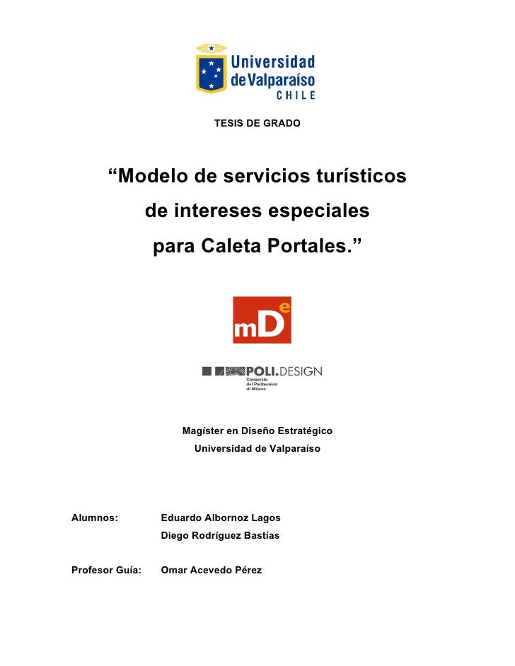 Tesis modelo de servicios tur sticos de intereses for Proyecto restaurante pdf