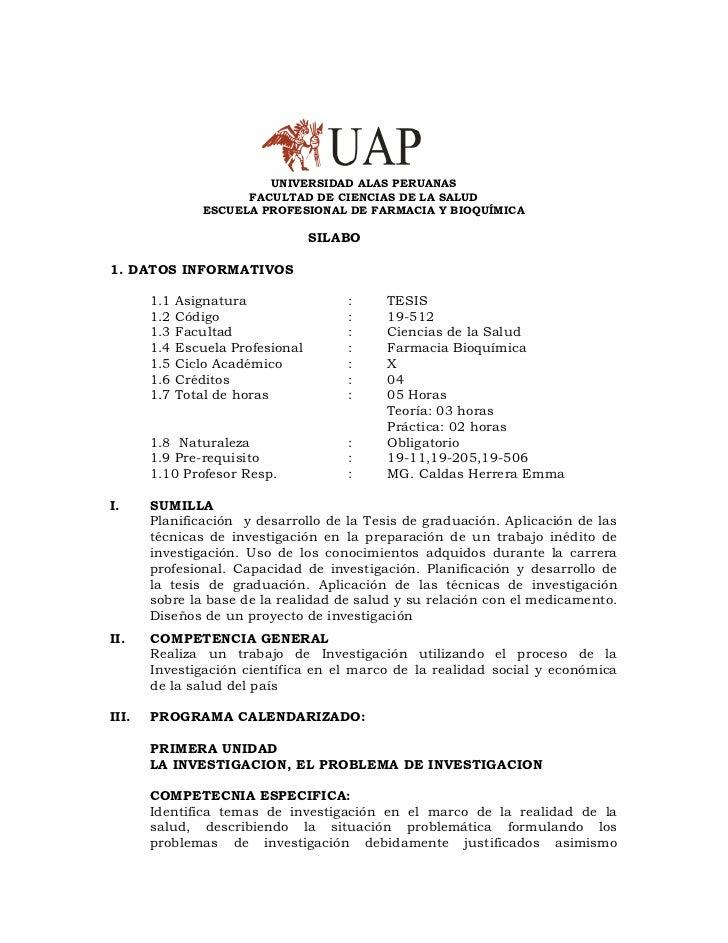 UNIVERSIDAD ALAS PERUANAS                       FACULTAD DE CIENCIAS DE LA SALUD                 ESCUELA PROFESIONAL DE FA...