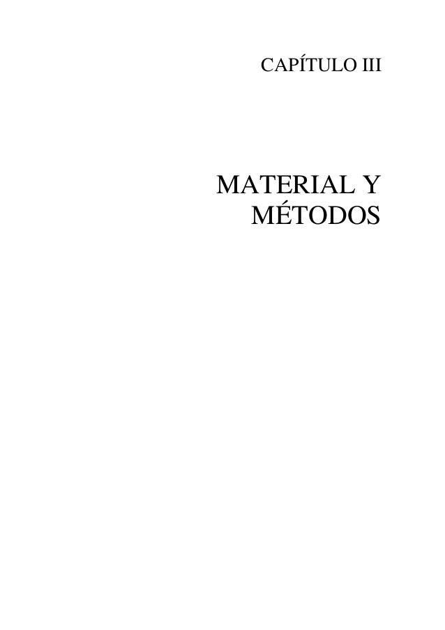 CAPÍTULO IIIMATERIAL Y  MÉTODOS