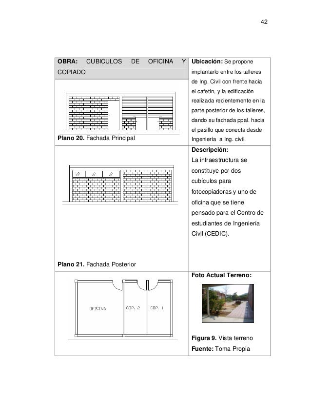 Tesis de arquitectura for Oficina fisica ing