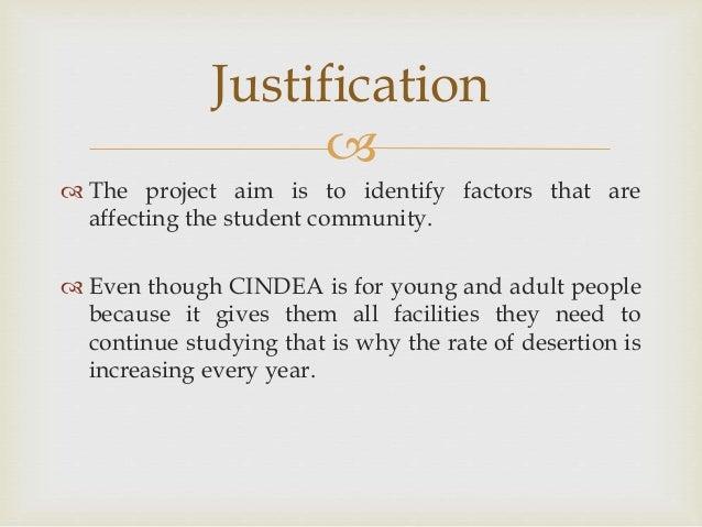 Factors affecting dropouts
