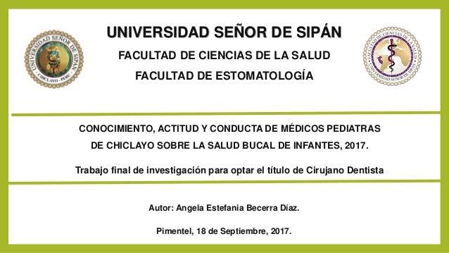 Conocimiento, actitud y conducta de médicos pediatras de Chiclayo sob…