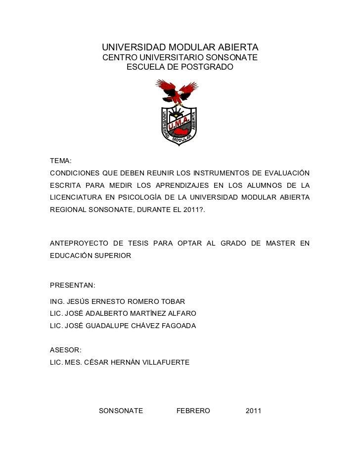 UNIVERSIDAD MODULAR ABIERTA             CENTRO UNIVERSITARIO SONSONATE                 ESCUELA DE POSTGRADOTEMA:CONDICIONE...