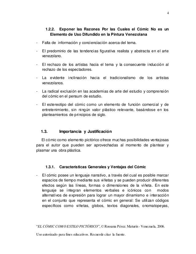 """4 """"EL CÓMIC COMO ESTILO PICTÓRICO"""",© Rossana Pérez. Maturín - Venezuela, 2006. Uso autorizado para fines educativos. Recue..."""