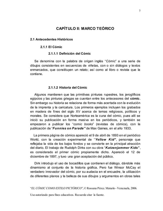"""7 """"EL CÓMIC COMO ESTILO PICTÓRICO"""",© Rossana Pérez. Maturín - Venezuela, 2006. Uso autorizado para fines educativos. Recue..."""