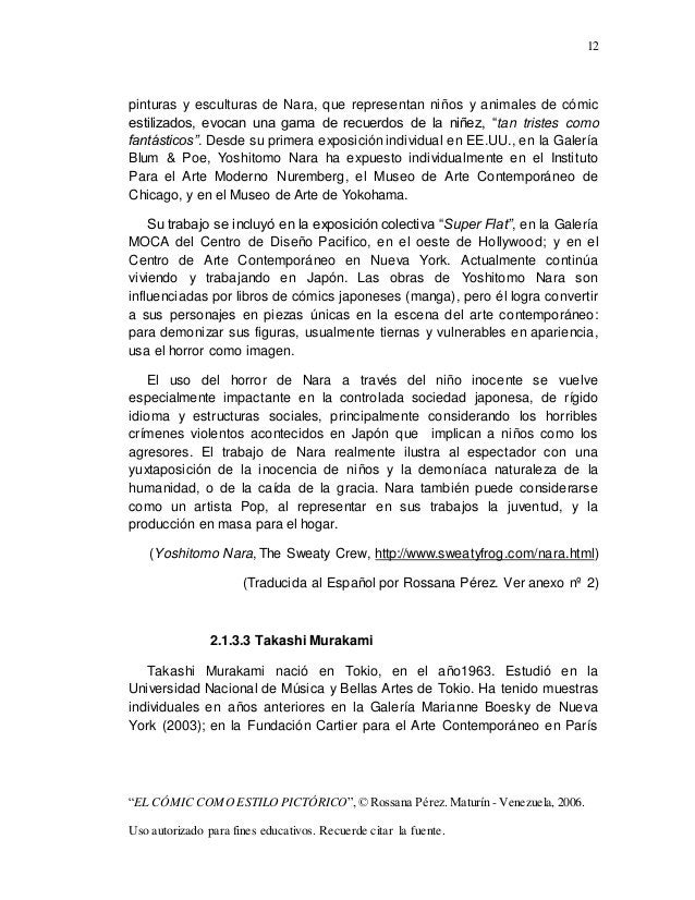 "12 ""EL CÓMIC COMO ESTILO PICTÓRICO"",© Rossana Pérez. Maturín - Venezuela, 2006. Uso autorizado para fines educativos. Recu..."