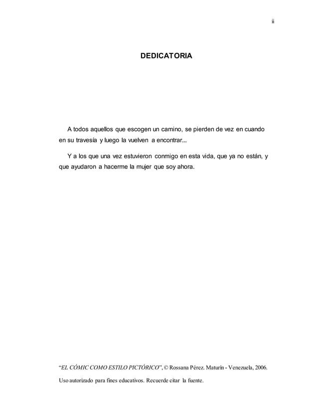 "ii ""EL CÓMIC COMO ESTILO PICTÓRICO"",© Rossana Pérez. Maturín - Venezuela, 2006. Uso autorizado para fines educativos. Recu..."