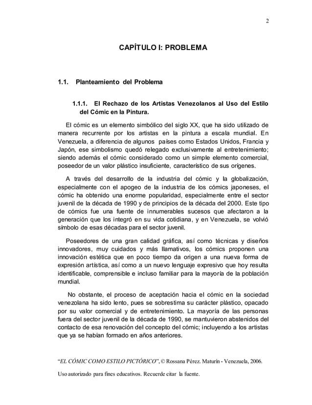"""2 """"EL CÓMIC COMO ESTILO PICTÓRICO"""",© Rossana Pérez. Maturín - Venezuela, 2006. Uso autorizado para fines educativos. Recue..."""