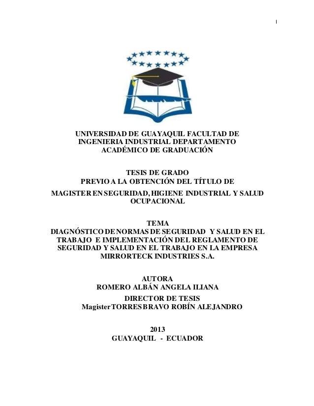 I  UNIVERSIDAD DE GUAYAQUIL FACULTAD DE  INGENIERIA INDUSTRIAL DEPARTAMENTO  ACADÉMICO DE GRADUACIÓN  TESIS DE GRADO  PREV...