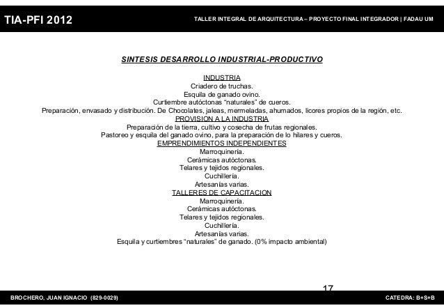 TIA-PFI 2012                                               TALLER INTEGRAL DE ARQUITECTURA – PROYECTO FINAL INTEGRADOR   F...