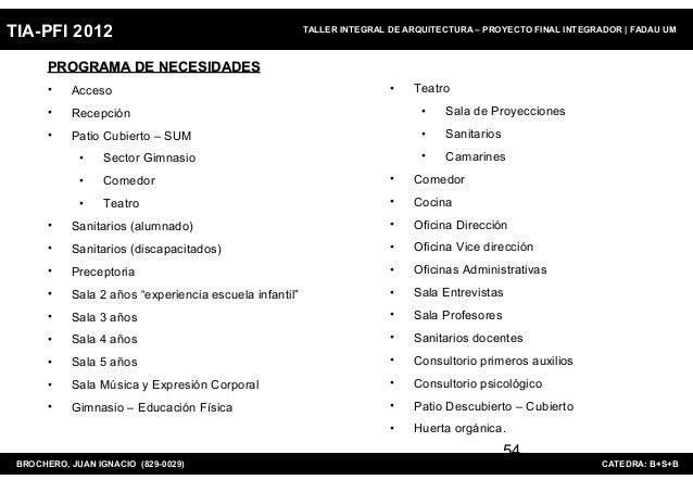 TIA-PFI 2012                                            TALLER INTEGRAL DE ARQUITECTURA – PROYECTO FINAL INTEGRADOR   FADA...