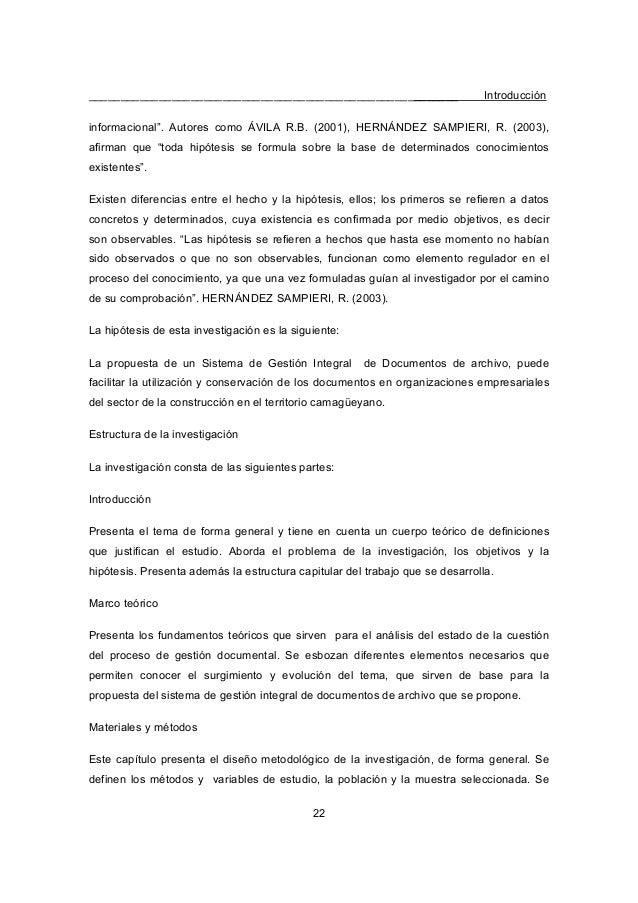 """__________________________________________________________ Introducción 22 informacional"""". Autores como ÁVILA R.B. (2001),..."""