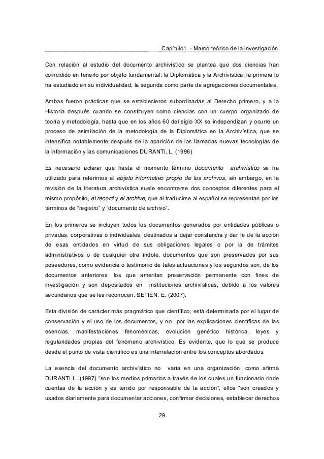 ________________________________ _Capítulo1. - Marco teórico de la investigación 29 Con relación al estudio del documento ...
