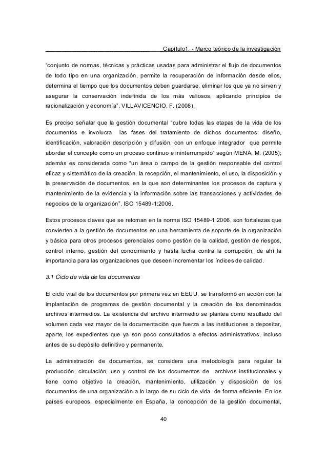"""________________________________ _Capítulo1. - Marco teórico de la investigación 40 """"conjunto de normas, técnicas y prácti..."""