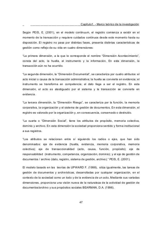 _ _______________________________Capítulo1. - Marco teórico de la investigación 47 Según PEIS, E. (2001), en el modelo con...