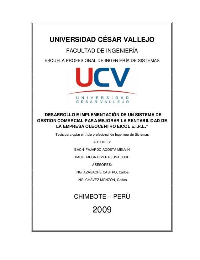 """UNIVERSIDAD CÉSAR VALLEJO               FACULTAD DE INGENIERÍA   ESCUELA PROFESIONAL DE INGENIERÍA DE SISTEMAS       """"DESA..."""
