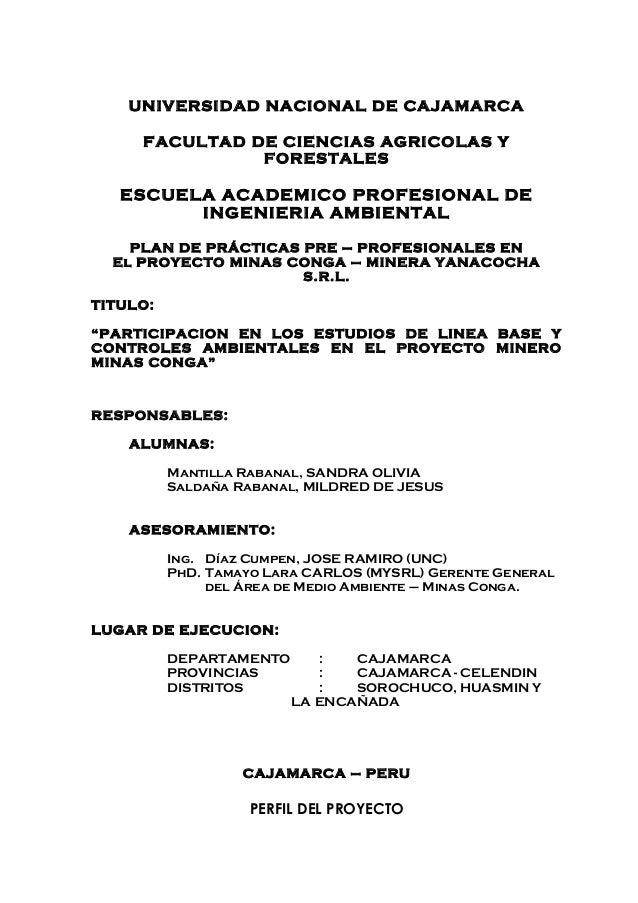 UNIVERSIDAD NACIONAL DE CAJAMARCA     FACULTAD DE CIENCIAS AGRICOLAS Y               FORESTALES   ESCUELA ACADEMICO PROFES...