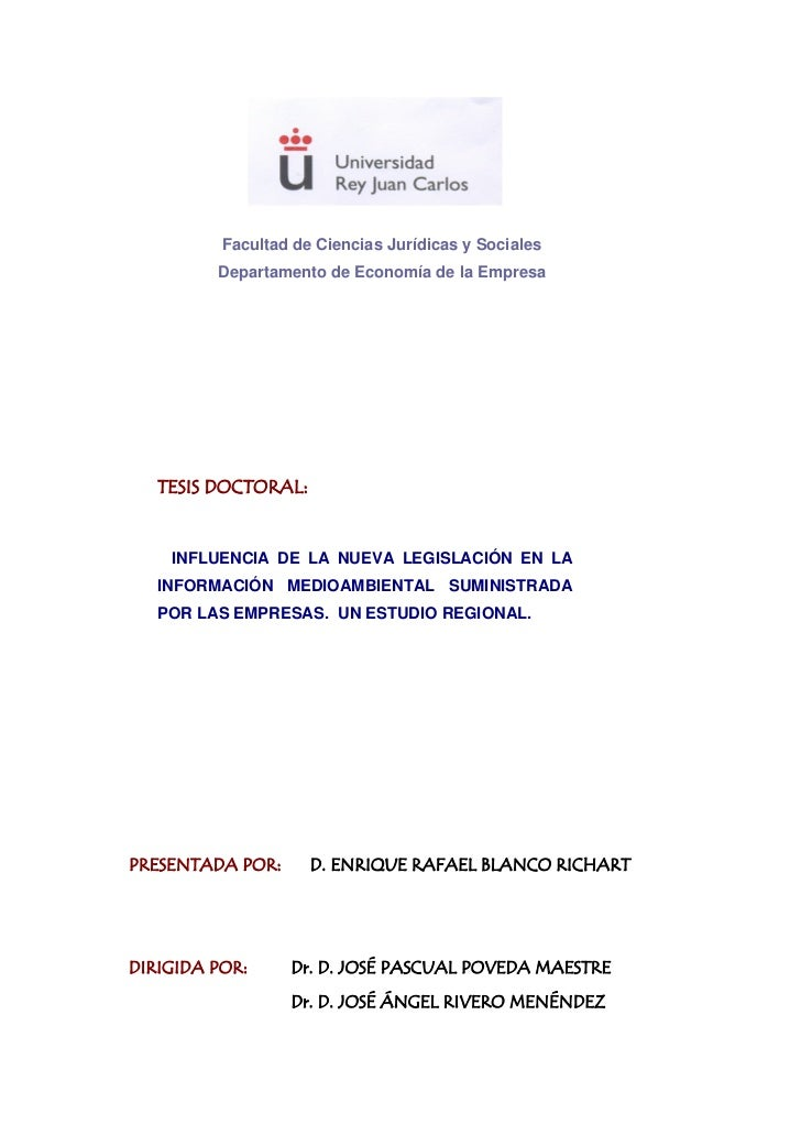 Facultad de Ciencias Jurídicas y Sociales         Departamento de Economía de la Empresa   TESIS DOCTORAL:    INFLUENCIA D...