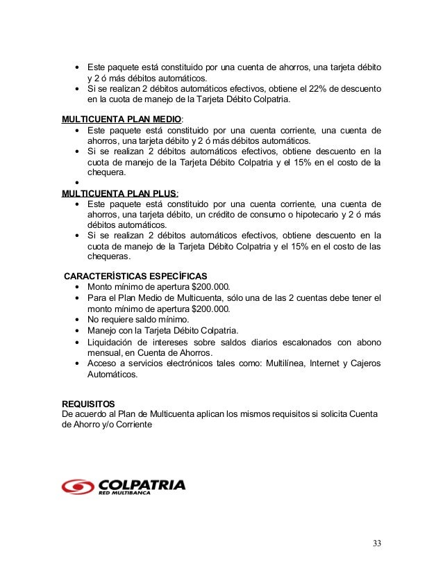 Tesis colpatria 2007 for Banesco online consulta de saldo cuenta de ahorro