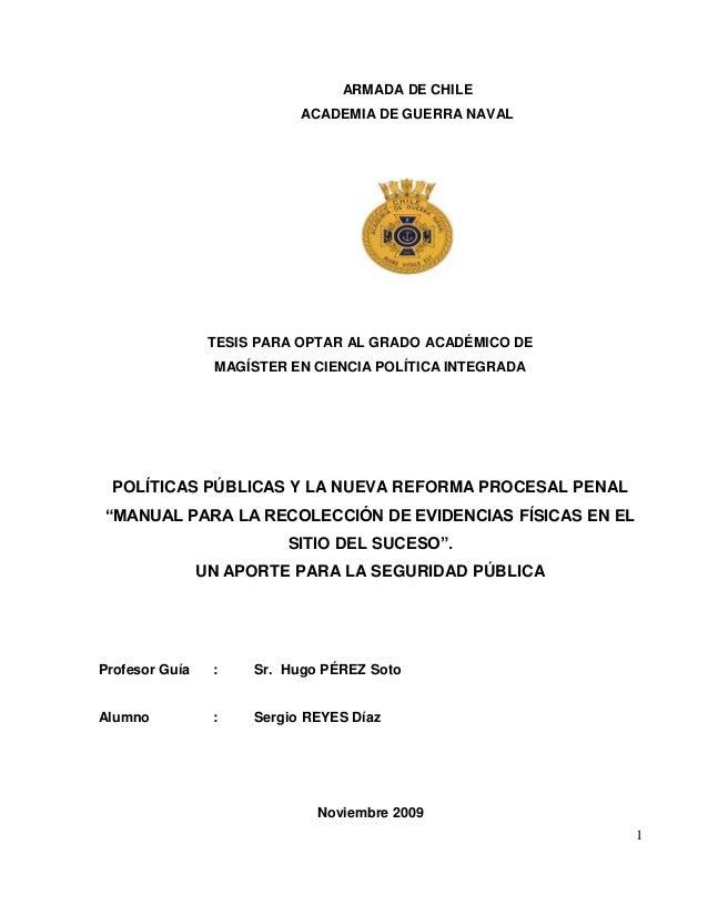 1 ARMADA DE CHILE ACADEMIA DE GUERRA NAVAL TESIS PARA OPTAR AL GRADO ACADÉMICO DE MAGÍSTER EN CIENCIA POLÍTICA INTEGRADA P...