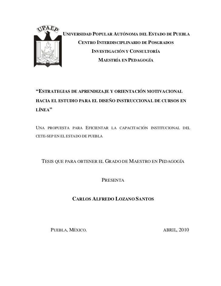 UNIVERSIDAD POPULAR AUTÓNOMA DEL ESTADO DE PUEBLA                    CENTRO INTERDISCIPLINARIO DE POSGRADOS               ...