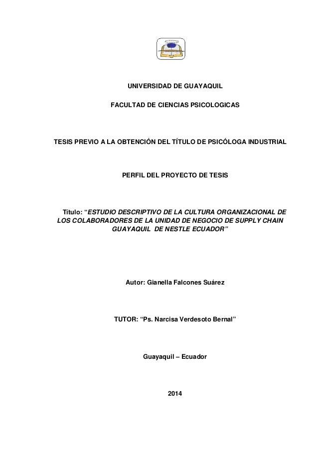 UNIVERSIDAD DE GUAYAQUIL FACULTAD DE CIENCIAS PSICOLOGICAS TESIS PREVIO A LA OBTENCIÓN DEL TÍTULO DE PSICÓLOGA INDUSTRIAL ...