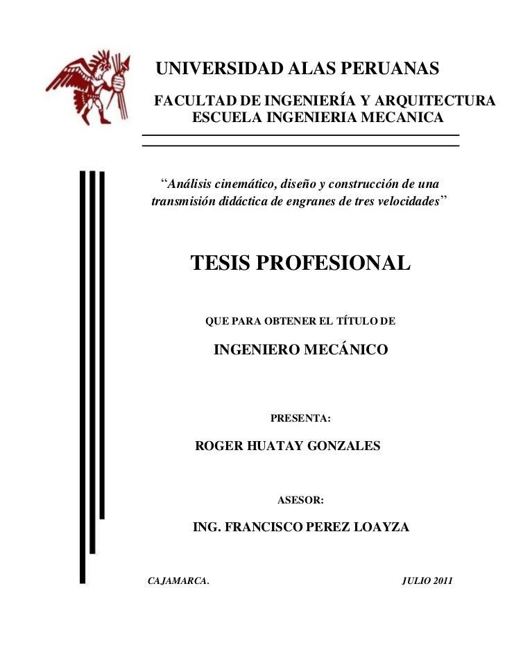 Tesis de caja de cambios listo for Tesis de arquitectura ejemplos