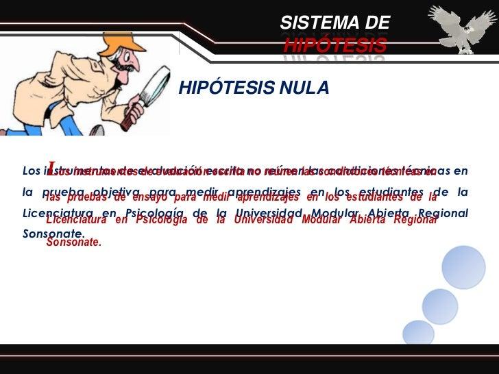 SISTEMA DE                                              HIPÓTESIS                           HIPÓTESIS NULA    LLos instrum...