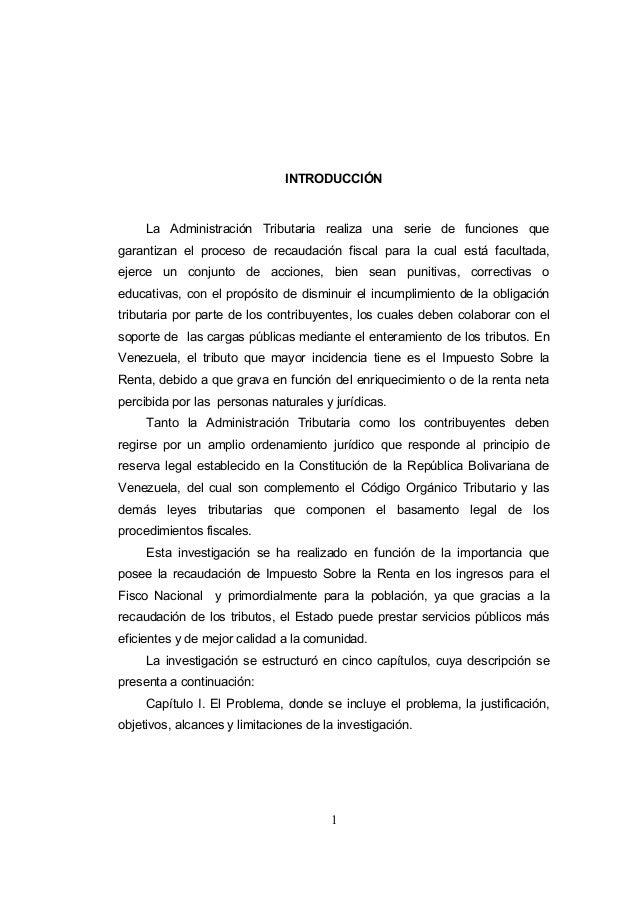 1 INTRODUCCIÓN La Administración Tributaria realiza una serie de funciones que garantizan el proceso de recaudación fiscal...