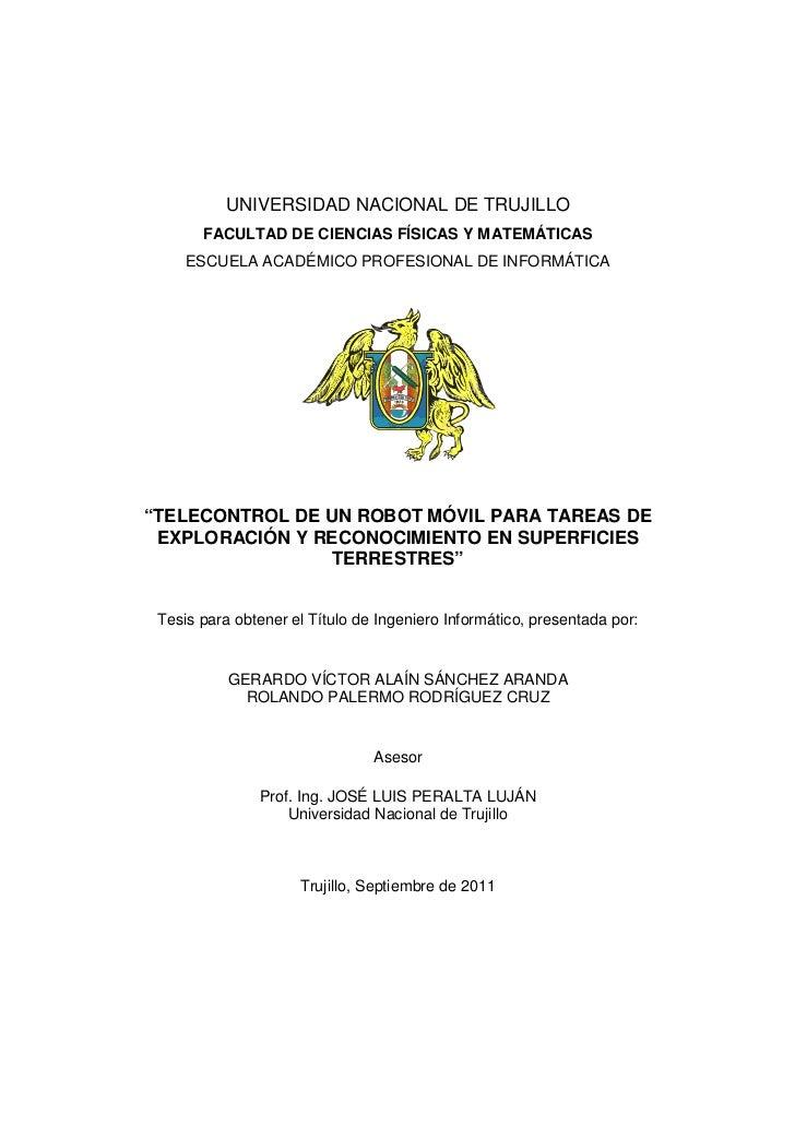 UNIVERSIDAD NACIONAL DE TRUJILLO       FACULTAD DE CIENCIAS FÍSICAS Y MATEMÁTICAS     ESCUELA ACADÉMICO PROFESIONAL DE INF...