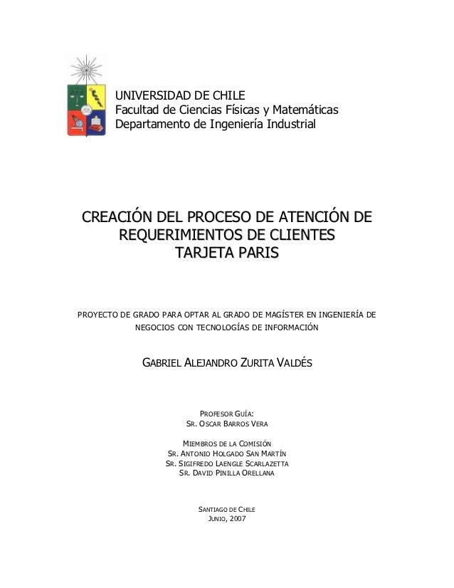 UNIVERSIDAD DE CHILE        Facultad de Ciencias Físicas y Matemáticas        Departamento de Ingeniería IndustrialCREACIÓ...