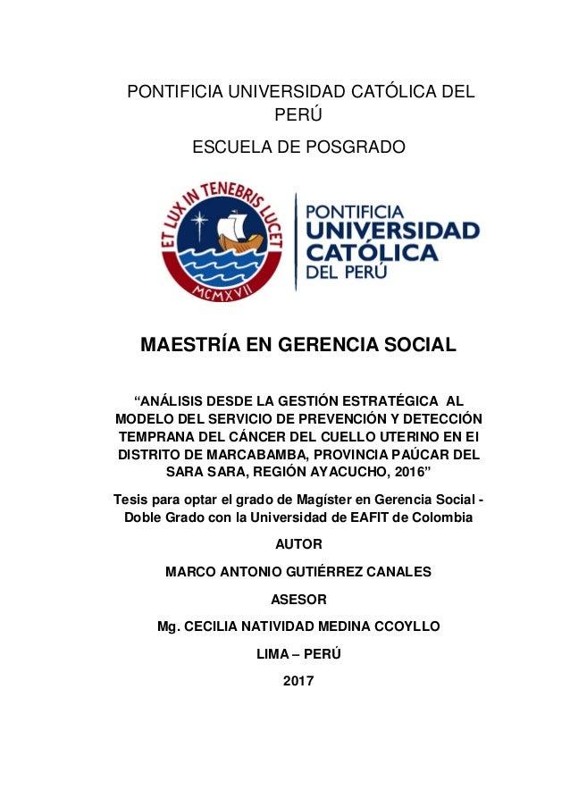 Marco Antonio Gutiérrez Canales - Tesis Gestión Estratégica - PUCP y …