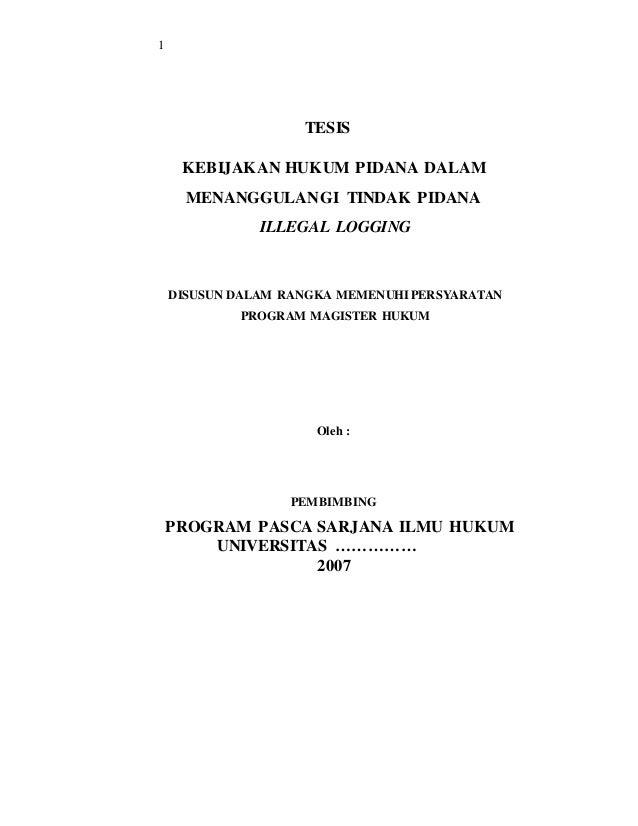 Judul Tesis Hukum Pidana Korupsi