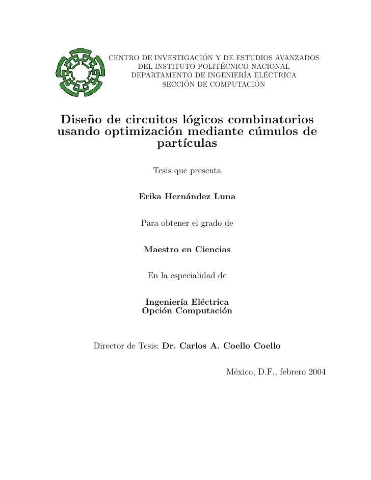 ´         CENTRO DE INVESTIGACION Y DE ESTUDIOS AVANZADOS                                  ´               DEL INSTITUTO P...