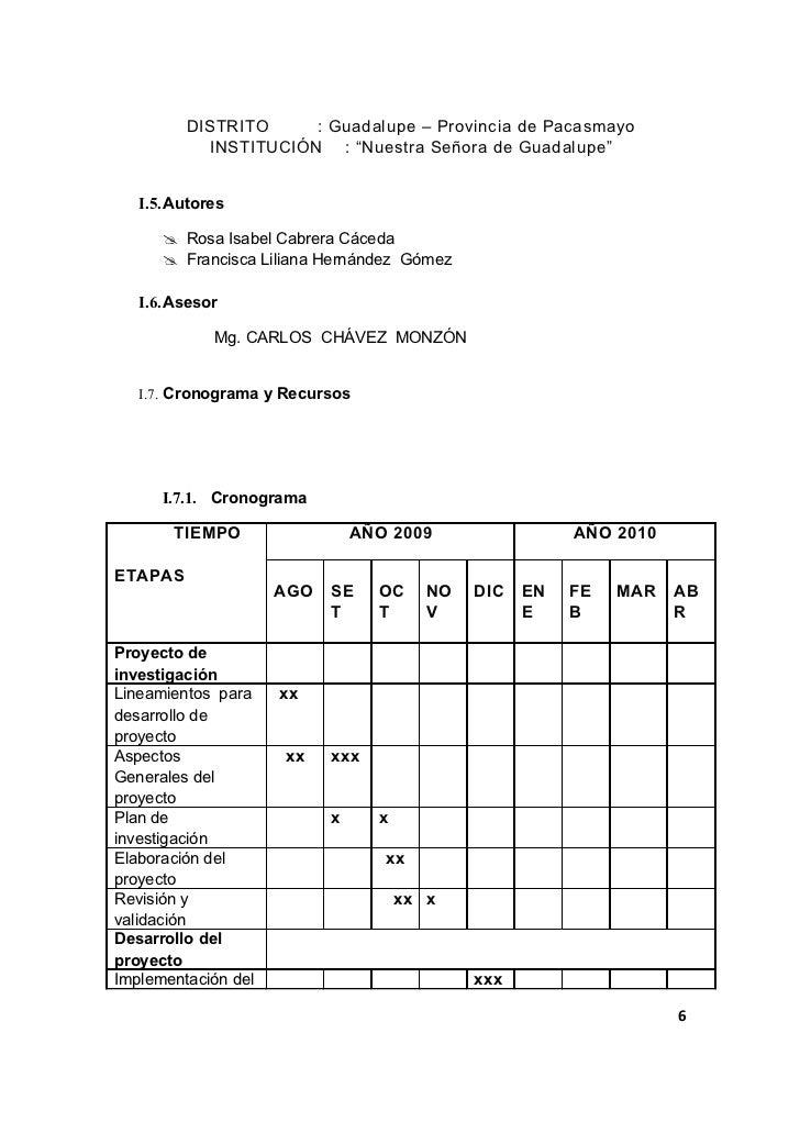 """DISTRITO     : Guadalupe – Provincia de Pacasmayo           INSTITUCIÓN : """"Nuestra Señora de Guadalupe""""   I.5. Autores    ..."""