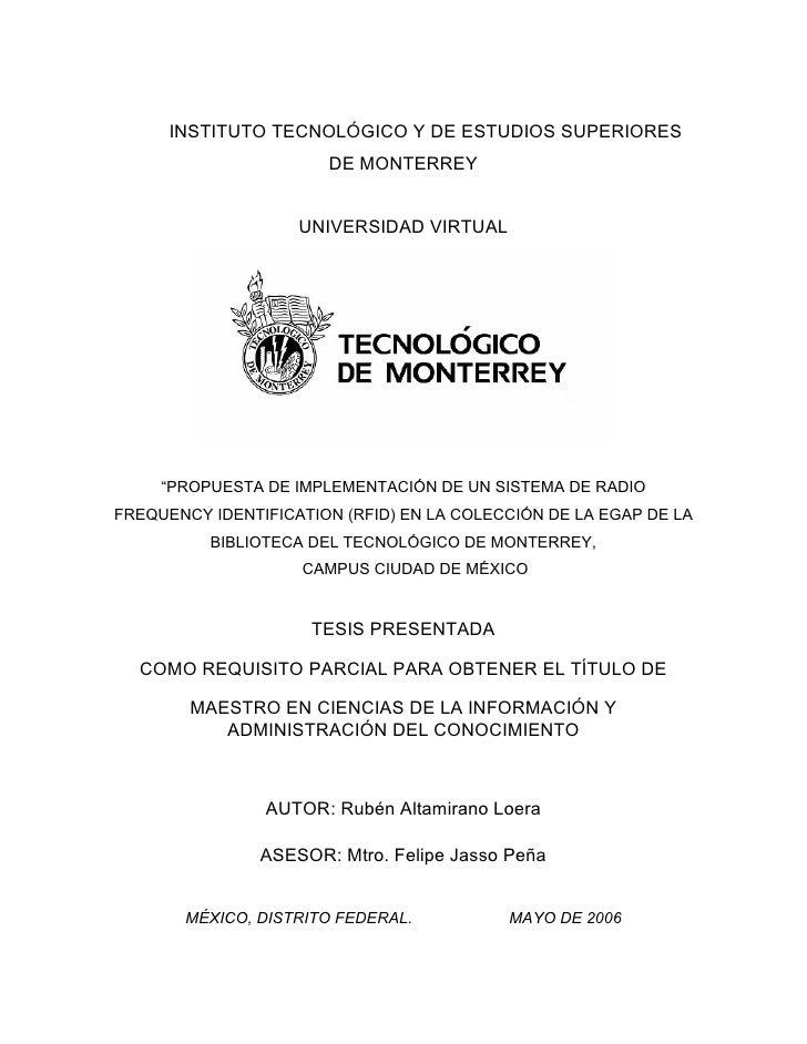 INSTITUTO TECNOLÓGICO Y DE ESTUDIOS SUPERIORES                        DE MONTERREY                       UNIVERSIDAD VIRTU...