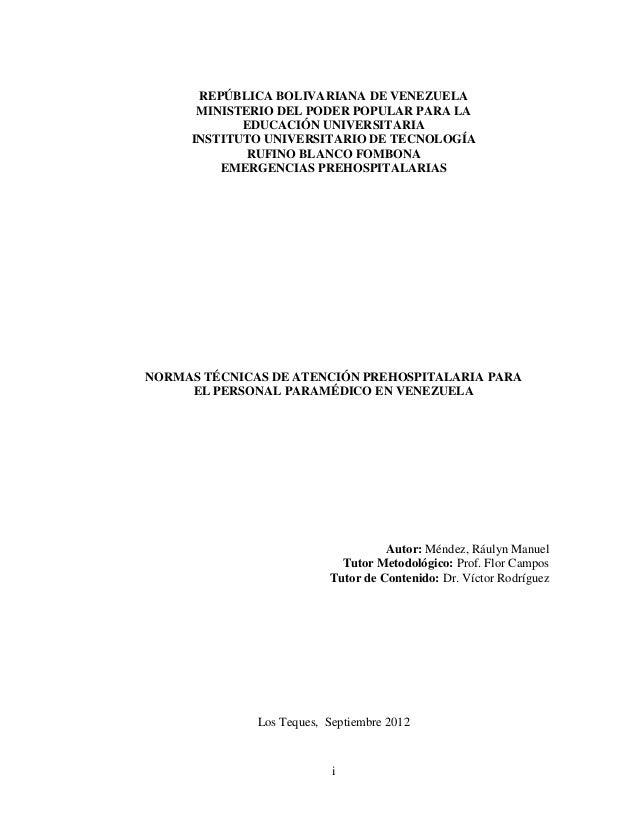 iREPÚBLICA BOLIVARIANA DE VENEZUELAMINISTERIO DEL PODER POPULAR PARA LAEDUCACIÓN UNIVERSITARIAINSTITUTO UNIVERSITARIO DE T...