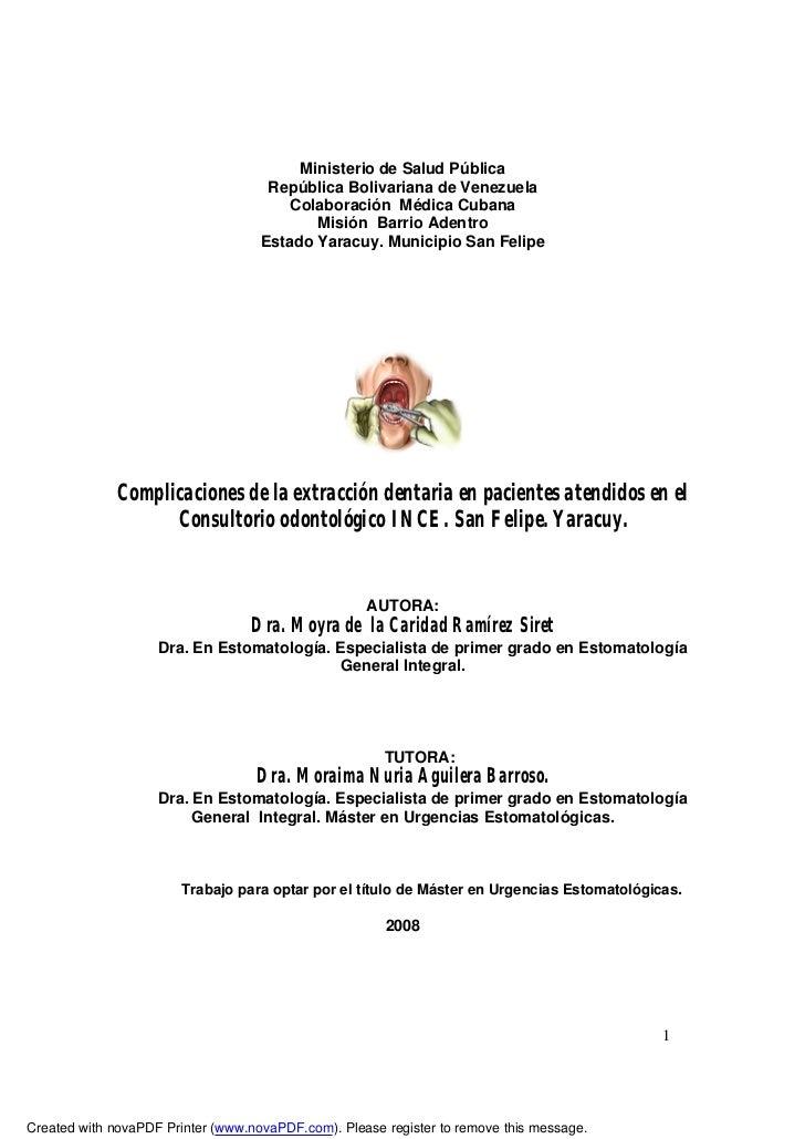 Ministerio de Salud Pública                                     República Bolivariana de Venezuela                        ...