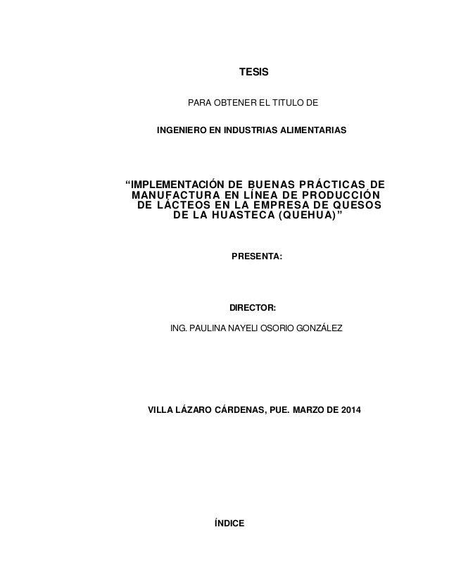 Tesis completa y aprobada para ingeniero en industrias alimentarias