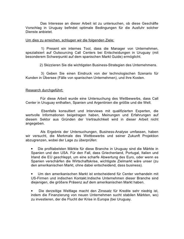 Uruguay Call Center Business-Plan