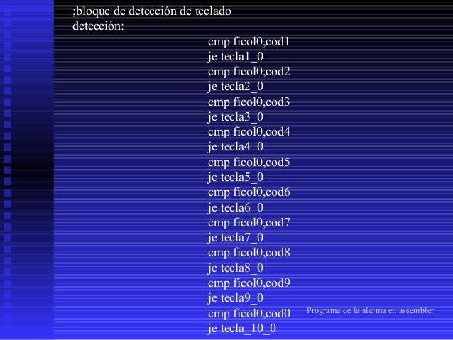 tecla1_0:  cmp ficol0,cod# je tecla_11_0 cmp ficol0,codA je tecla_12_0 cmp ficol0,codB je tecla_13_0 cmp ficol0,codC je te...