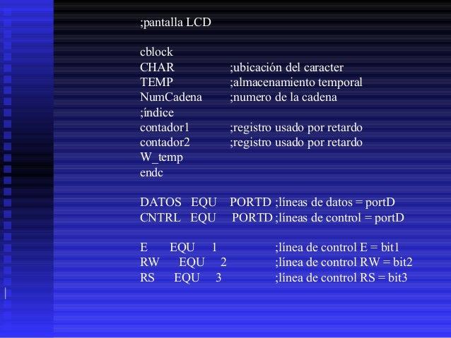 DISP_ON_CURSOR_BLINK EQU  B'00001111' ;Display ;on, cursor on,blink DISP_ON_NOCURSOR EQU B'00001100' ;Display on, cursor o...